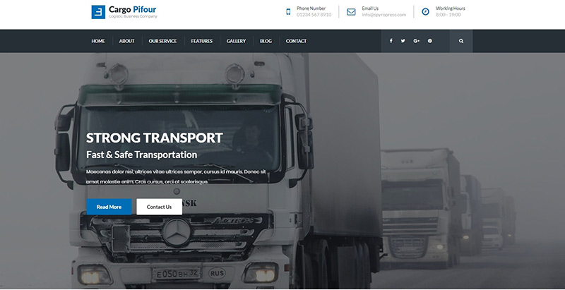 Pifour themes wordpress creer site internet entreprise transports