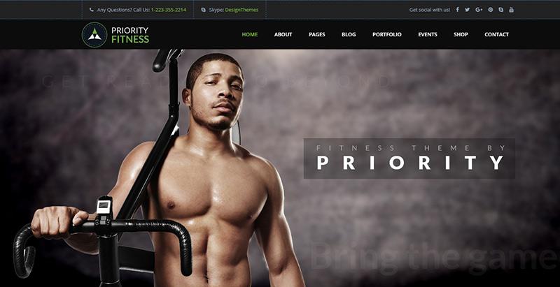 Priority themes wordpress creer site internet club gym fitness sport
