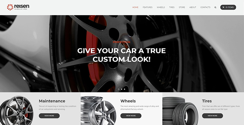 Reisen themes wordpress creer site web garage automobile atelier mecanique