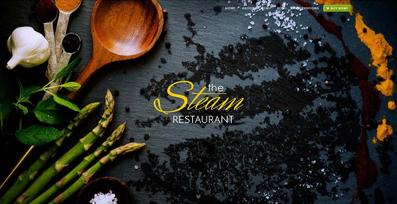 Steam themes wordpress creer site internet restaurant café resto pizzeria