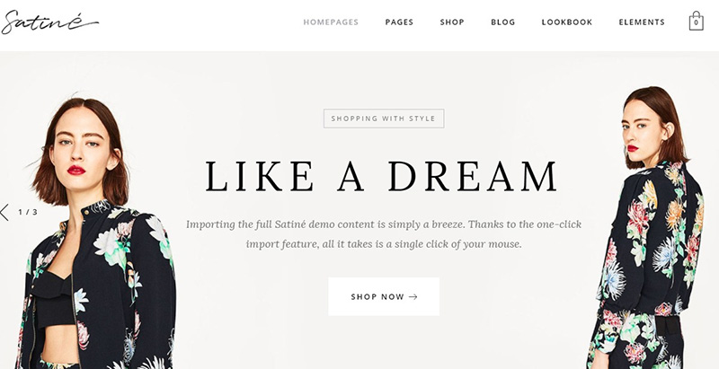 créer un site web d'e-Commerce - Satine