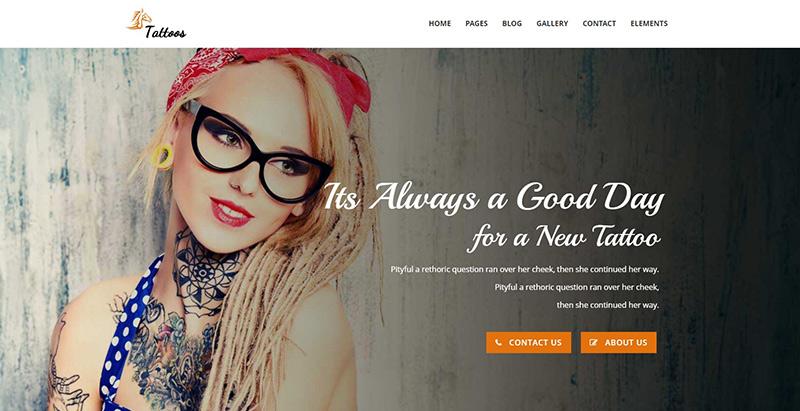 Tattoos Themes Wordpress Creer Site Internet Salon Tatouage