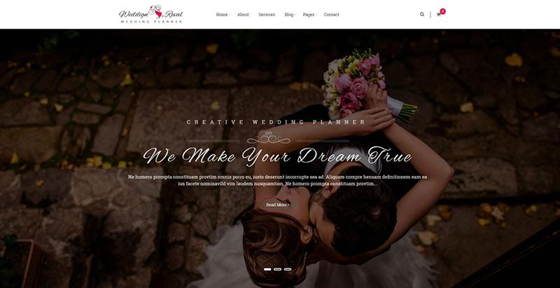 รูปแบบการรีวอลงานแต่งงานเว็บไซต์ wordpress creer อินเทอร์เน็ต mariage 1