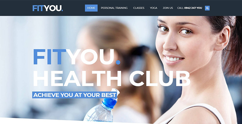 You themes wordpress creer site internet club gym fitness sport