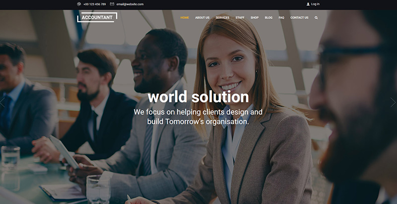Accountant themes wordpress creer site web cabinet expert comptable