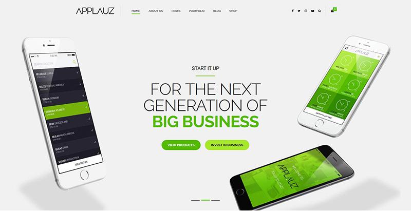 Applauz themes wordpress creer site web start up entreprise agence