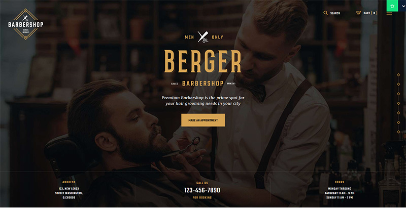 Berger themes wordpress creer site internet salon coiffure