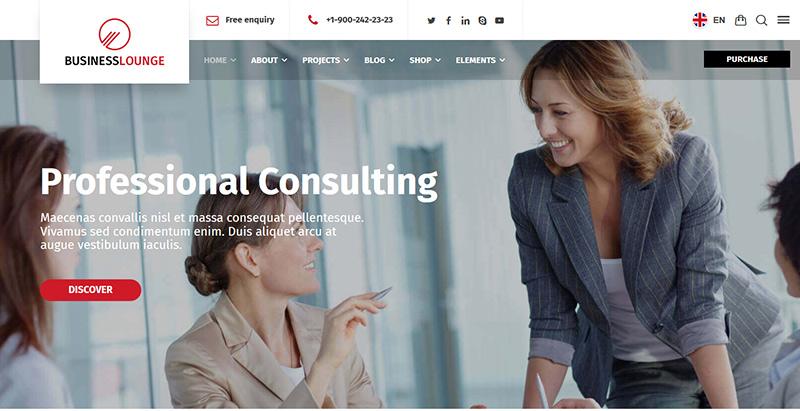 créer un site Web d'entreprise - Business lounge