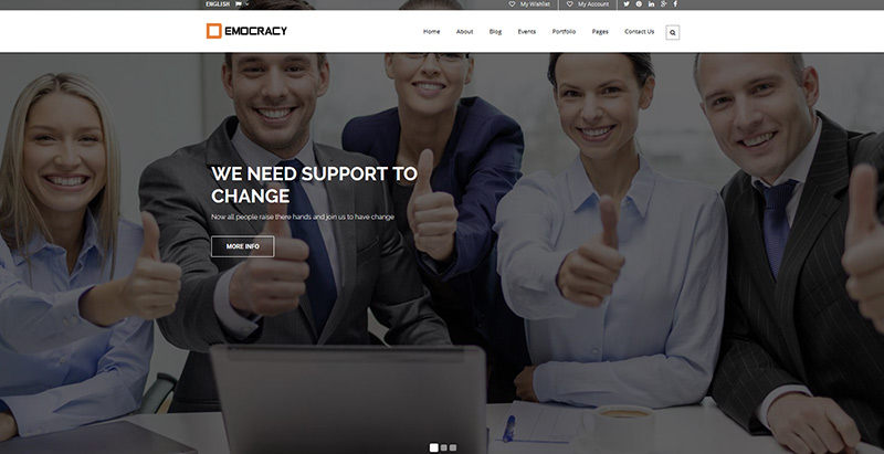 Democarcy political themes wordpress creer site internet parti politique