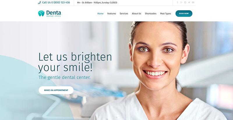 Denta themes wordpress creer site web hopital medecin clinique
