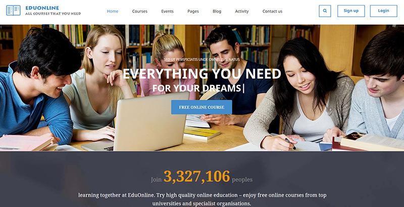 Eduonline themes wordpress creer site internet e learning