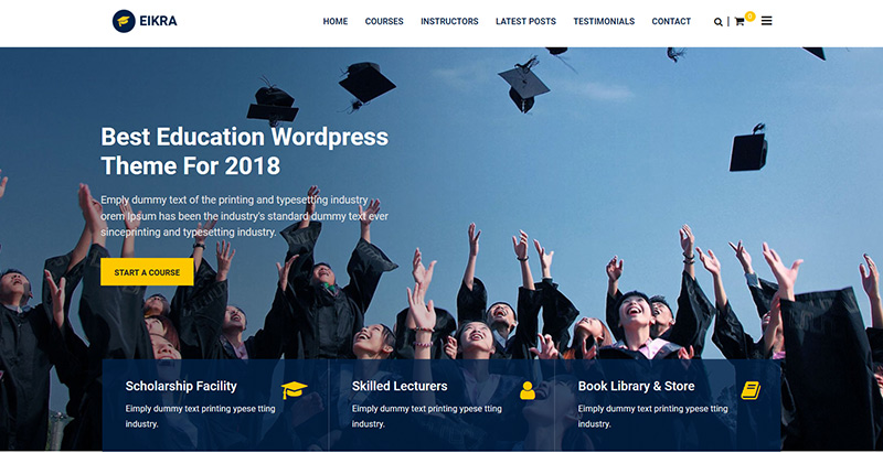 Eikra Themes Wordpress Creer Site Internet E Learning