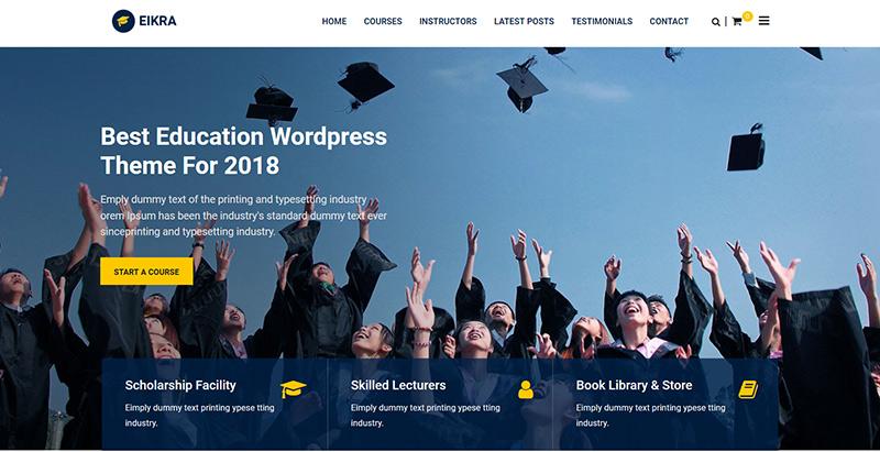 Eikra themes wordpress creer site internet e learning
