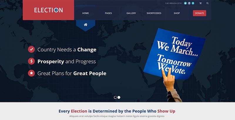 Temas de 10 WordPress para crear un sitio web de un partido político ...