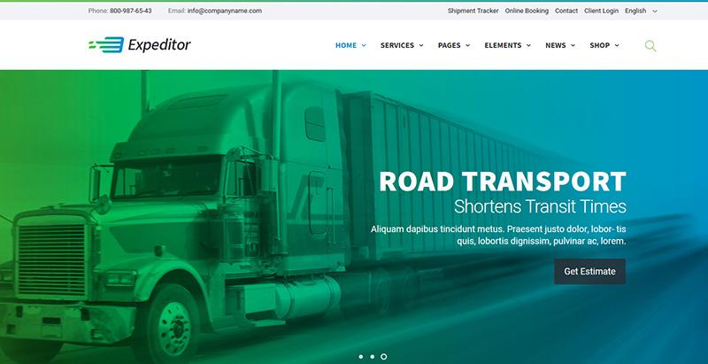 10 WordPress Themes to Create a Logistics Business Website