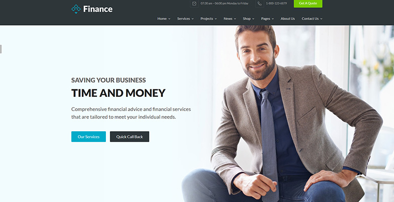 Finance themes wordpress creer site web entreprise financiere compatibilite audit
