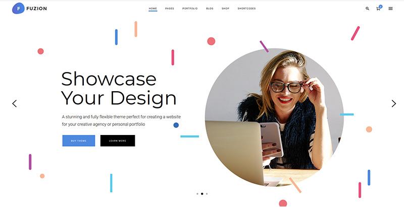 Fuzion themes wordpress creer site web agence creative photographe