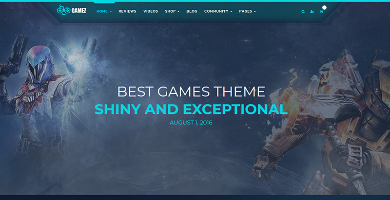 Gamez themes wordpress creer site internet esport jeux videos