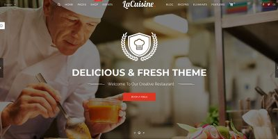 Lacuisine Themes Wordpress Criar site Restaurante Bistro