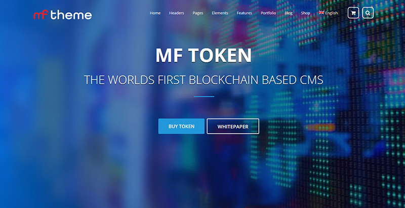 Mf themes wordpress creer site web entreprise crypto monnaie devise