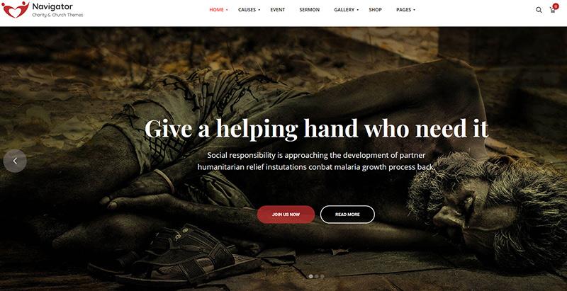 Navigator themes wordpress creer site internet eglise religion chapelle
