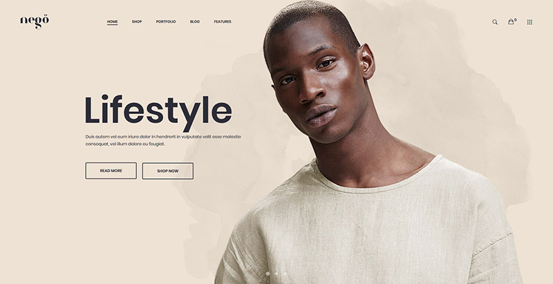 Nego themes wordpress creer site internet ecommerce boutique en ligne
