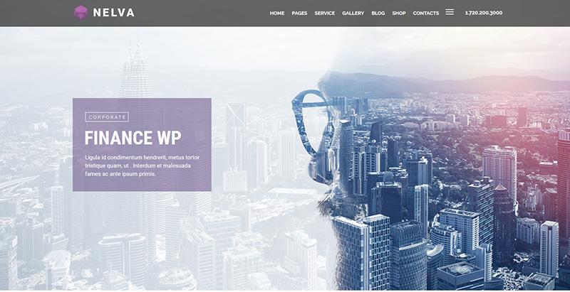 Nelva themes wordpress creer site web cabinet expert comptable
