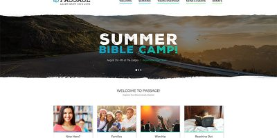 Passage Themes Wordpress Creer Site Internet Eglise Religion Chapelle