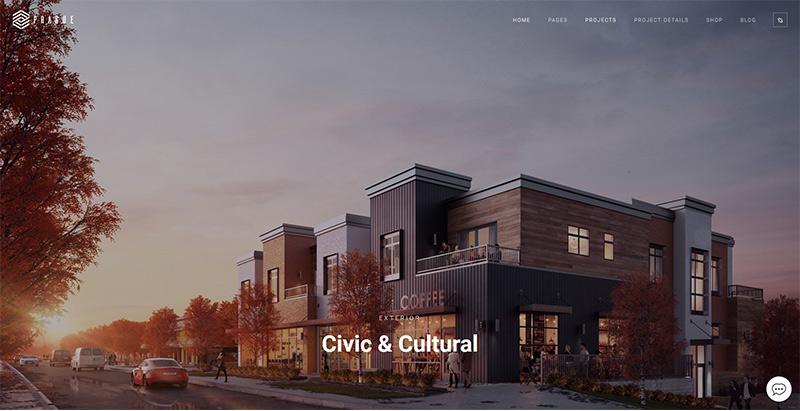 thèmes WordPress pour créer un site web d'architecte- Prague