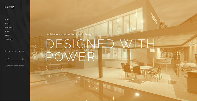 créer un site web d'architecte - Ratio