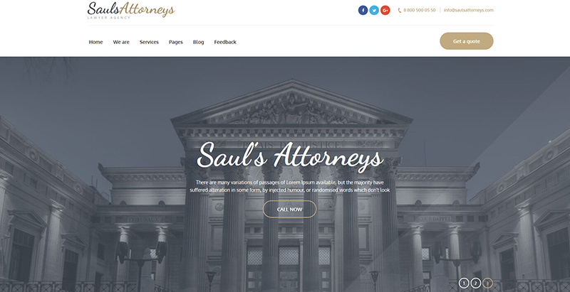 Saulsattorneysthemes wordpress creer site internet avocat procureur notaire