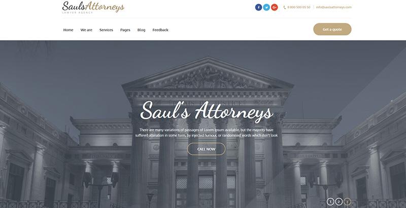 Saulsattorneysthemes wordpress creer site internet avocat procureur notaire