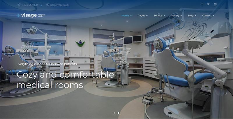 Visage themes wordpress creer site internet clinique hopital
