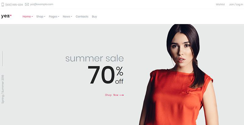 Yez themes wordpress creer site internet ecommerce boutique en ligne