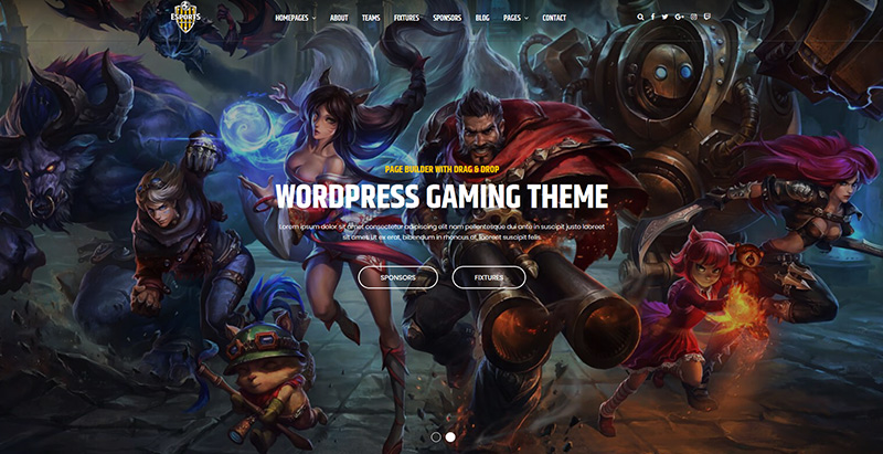 Esport Themes Wordpress Creer Site Internet Esport Jeux Videos