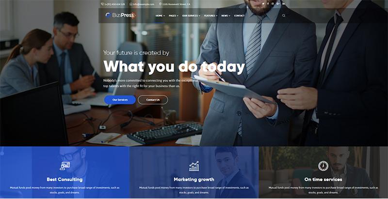 thèmes WordPress pour créer un site web de cryptomonnaies -Bizipress