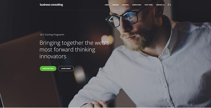 Temas de consultoria de negócios wordpress create website coaching