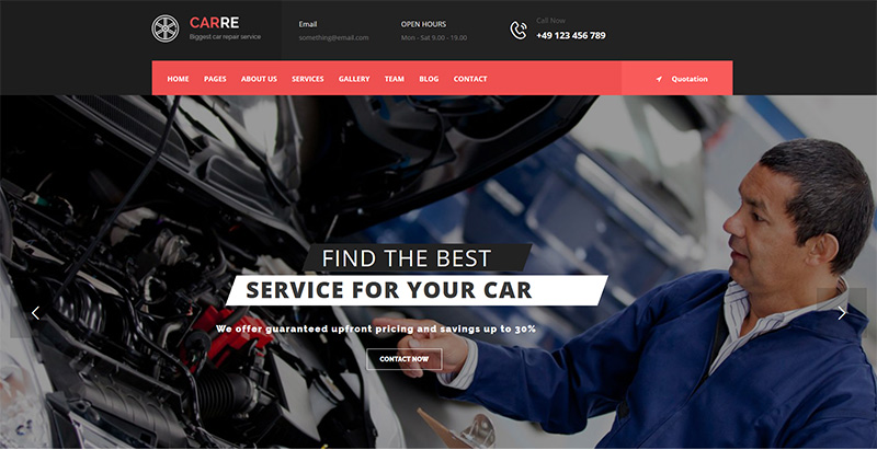 Carre themes wordpress creer site web vente achat voitures