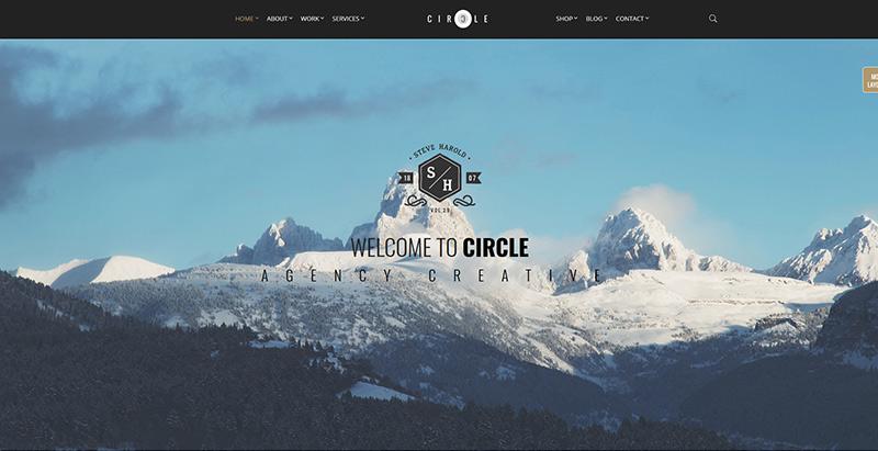 Circle themes wordpress premium creer site web photographe