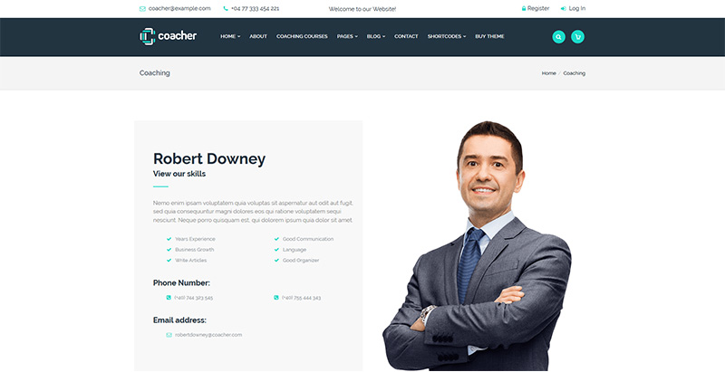 Coacher Themes Wordpress Creer Site Internet Coach Coaching