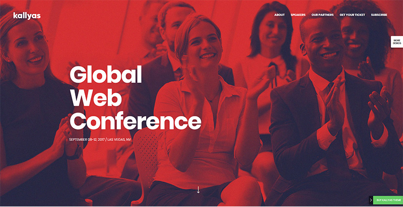 Conference themes wordpress creer site internet conference seminaire events
