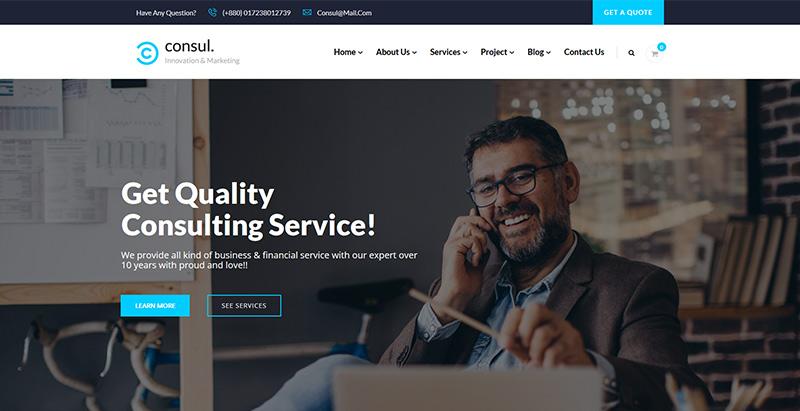 Temas Consul wordpress criar website coaching