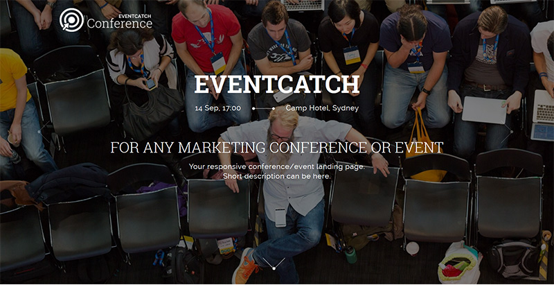 Eventcatch themes wordpress creer site internet conference seminaire events