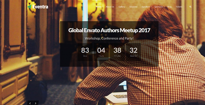 Eventra themes wordpress creer site internet conference seminaire events