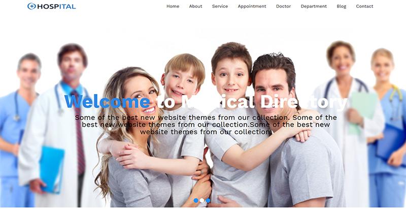 Hospital themes wordpress creer site web hopital clinique dispensaire