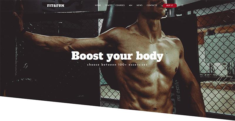 Naos themes wordpress creer site web clubs gym fitness coach