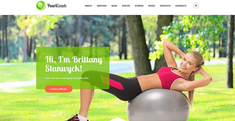 Pearl theme wordpress create website coaching