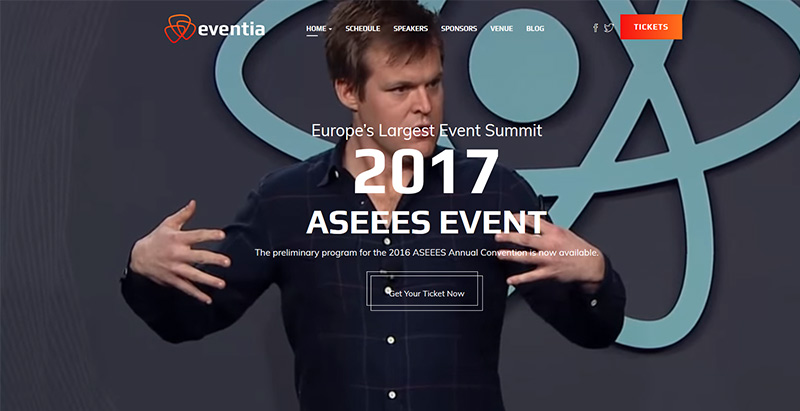 Eventia themes wordpress creer site internet conference seminaire events