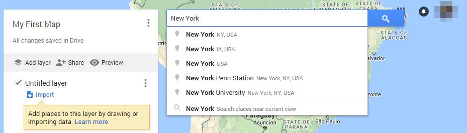 Nouvelle carte et location google map