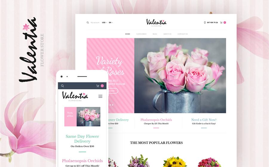 Thème WooCommerce pour magasin de fleurs